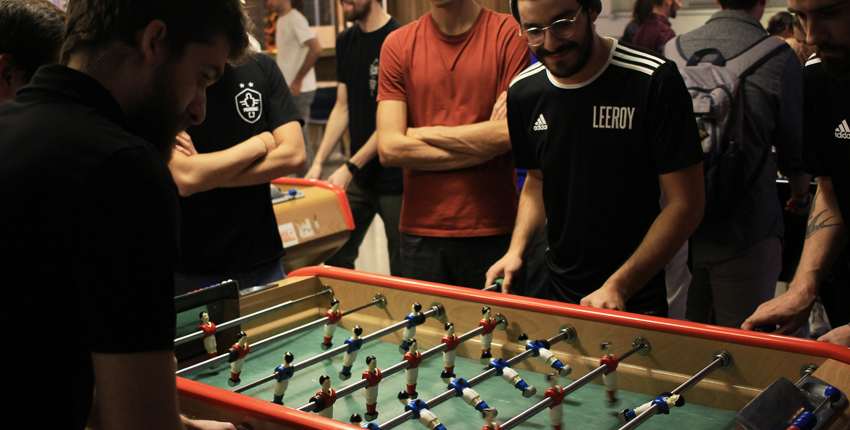 In support of the BEC association, Leeroy organized the 2018 foosball tournament.