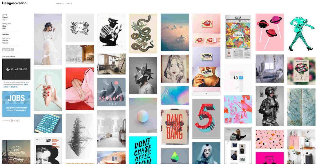 Top 10 Best Design Inspiration Sites For Web Designers Leeroy Creative Agency Digital Web Marketing